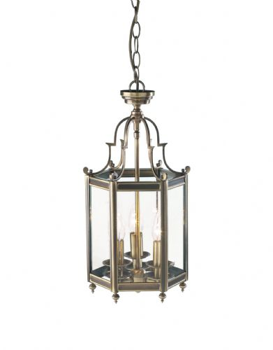 Moorgate 3-light Antique Brass Brass Ceiling Light MOO0375 (039918)
